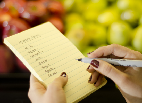 Customizable shopping list at Vinckier Foods